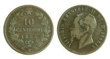 pci1722) Regno d Italia Vittorio Emanuele II  Centesimi 10 Valore 1866 Na