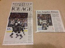 2014 NHL Stanley Cup Champions LA Kings Los Angeles Times newspaper hockey