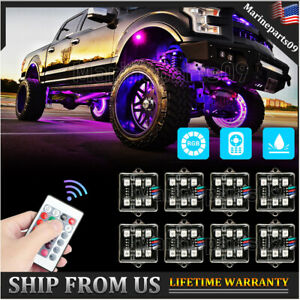 LED Underglow RGB Rock Lights Multicolor Neon Strip Light Kit For Off-Road Truck