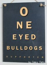 Canterbury Bulldogs One Eyed Retro Footy Sign - Jersey Cards Rugby League Etc