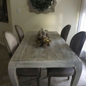 Rustic, Boho, Chabby Chic Esthetic. Solid Wood Dining Table