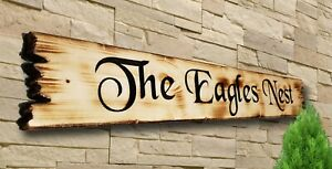 Personalised Carved  House Wooden Oak/Pine Sign Address Name Plaque Outdoor old