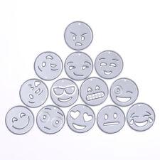 13× QQ Emoji Metal DIY Cutting Dies Stencil Scrapbook Card Album Paper Embossing