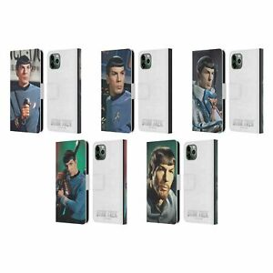 OFFICIAL STAR TREK SPOCK LEATHER BOOK CASE FOR APPLE iPHONE PHONES