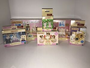 Calico Critters Lot NEW in Package Hopscotch Rabbit Furniture Sets Figures Epoch