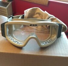 ESS Land-Ops tan Tactical Goggles, w/Clear Lens in Ex-Condition!