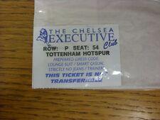 circa 1990s Ticket: Chelsea v Tottenham Hotspur [Executive Club] (Blue). Thanks