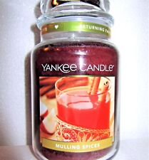 """Yankee Candle """"MULLING SPICES"""" Food Scented Large 22 oz.~ WHITE LABEL~ NEW"""