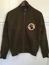 RRL Mens Zip Wool Sweater Jacket Lightning Patch Small NWT $495 Ralph Lauren
