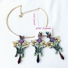 Betsey Johnson 'Butterfly Dreams' Necklace & Earring Set  NWT!
