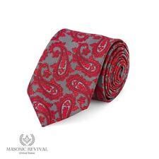 Gris Paisley™ Necktie by Masonic Revival