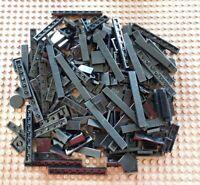 100 Gramm 0,1 Kg Schwarze Lego Fliesen in unterschiedlichen Größen Platten