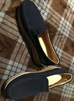 Mens Suede Slip On Boat Shoes - Sz 10 (?) - VERY NICE!
