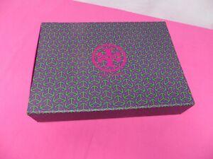 Tory Burch Logo Empty Box w/Slide Out Drawer Purple Twill Tape Handle