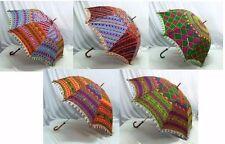 Indian Handmade Designer Cotton Umbrella Heavy Embroidery Work Lot of 50 Pcs