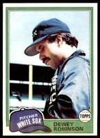 1981 Topps Baseball Set Break Dewey Robinson Chicago White Sox #487