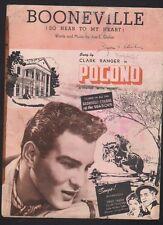 Booneville (So Near To My Heart) 1949 Clark Ranger Pocono Composer Autograph