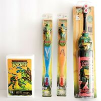 Lot of 23 Vintage Teenage Mutant Ninja Turtles 2004 Toothbrushes Raph Leo Mikey