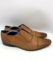 Ted Baker Rogrr Mens Cap Toe Oxford Lace Up Leather Shoes Brown Size 45 US 12