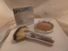 it Cosmetics CC Radiance Ombré Bronzer Warm Radiance Heavenly Fan Brush #9 NIB