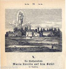 Augusta-WALL VIAGGIO Chiesa Maria Loretto-legno chiave 1875