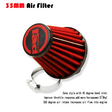 Red 35mm Air Cleaner Filter Pod For 50cc  90cc ATV Dirt Go Kart Chinese Scooters