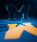 Iconic Letter 'M' polished clear custom acrylic sculpture. Massive: 4.5 pounds.