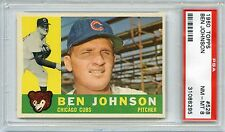 1960 TOPPS #528 BEN JOHNSON PSA 8 NM-MT NQ TOUGH LOW POP1/47/4 HIGHER