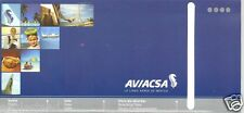Ticket Jacket - Aviacsa - 11 Image Blue - B737 Cover (Mexico) (J1599)