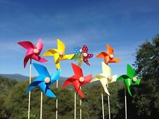 Assorted Small Color Windmill - 8 Piece Set
