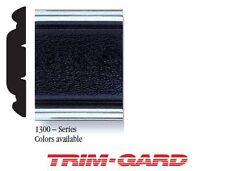 """1 1/4"""" Wide Universal Chrome With Black Center Trim-Gard Molding With Ends"""