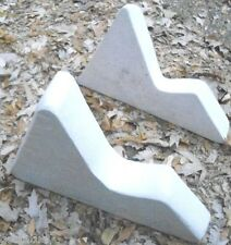 Set of 2 right left Plaque holder plastic molds moulds v style