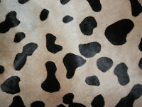 """Printed Hair On Cowhide Leather Scrap 7.5""""x15"""" avg 1.5mm thick #7680"""