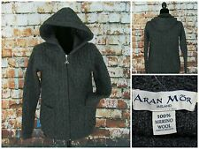 Aran Mor Ireland NEW Women's Merino Wool Zip Up Cardigan Hooded Sweater Size S