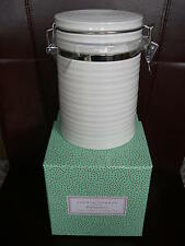 Portmeirion Sophie Conran Large Lidded Storage Jar Coffee Tea White New Boxed