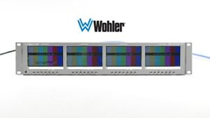 Wohler Panorama RM-2443W-HD 2RU Quad 4.3 HD/SD-SDI Analog Video Monitor
