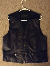 Size Large Heavy Leather Motorcycle Vest by Structure    Nice!