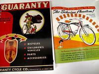 SCHWINN  BICYCLE 1940'S 50'S 60'SPARTS & ACCESSORIES FREE BALOON BIKE CATALOGE