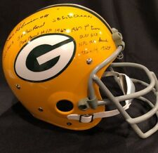 Dave Robinson Signed Auto Packers Full Size Throwback Custom Helmet 5 Insc ~ JSA