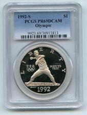 1992 S $1 Olympic Silver Commemorative Dollar PCGS PR69DCAM