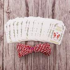 50pcs Paper Merry Christmas DIY Gift Tags with Rope Craft Labels Party Decor