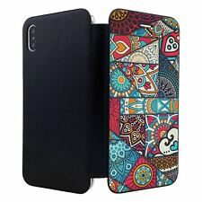 iPhone XS MAX Flip Wallet Case Cover Mandala Moroccan Pattern - S6893