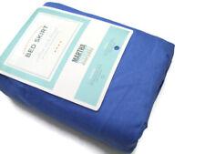 Martha Stewart Everyday Mix Match Blue Corn Flower Blue King Bedskirt Bed Skirt