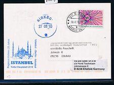66289) PEGASUS AIR SF Berlin - Istanbul Türkei 26.3.2010, Karte UNO Genf R!