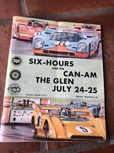 VTG OFFICIAL WATKINS GLEN PROGRAM 1971 SIX HOURS & CAN-AM, THE GLEN & ENTRY LIST