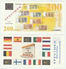 France 200 Euro 1998 UNC Specimen Test Note Banknote