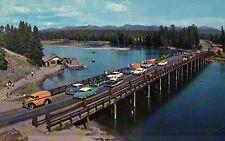 The Fishing Bridge Lake Yellowstone National Park Wyoming Car Traffic - Postcard