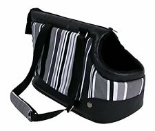 Trixie Stormy Pet Carrier For Cats & Small Dogs Black Grey White