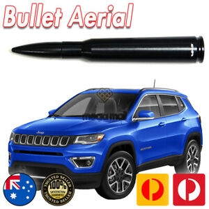 Black Antenna Aerial Bullet Stubby for Jeep Compass 50 CAL