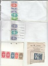 PAKISTAN 17 ENTERTAINMENT AND IDENTITY CARD REVENUE USED STAMPS ON DOCUMENT